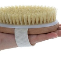 ON SALE TopNotch Dry Body Brush Natural Bristles. Skin Brushing Ebook. Anti-cellulite. Wash Mitt Travel Bag.