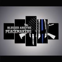 Police Peacemakers Skull