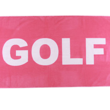 GOLF BEACH TOWEL PINK/WHITE