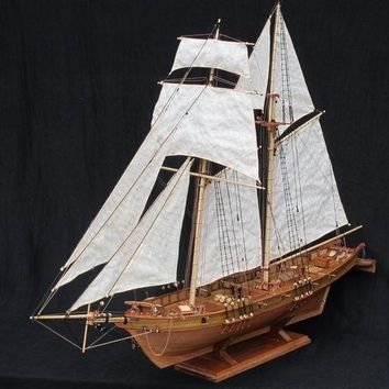 Antique Wooden Sail Boat