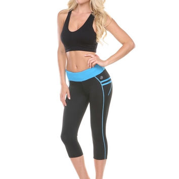 ANCHORA Active Leggings - Black/Blue