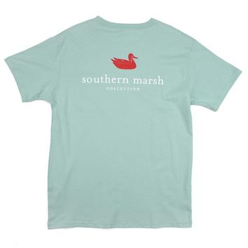 Authentic Tee in Seafoam by Southern Marsh