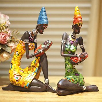 28cm Height Polyresin Africa Beauty Resin crafts