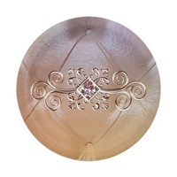 Posh pintuck diamond paper plate