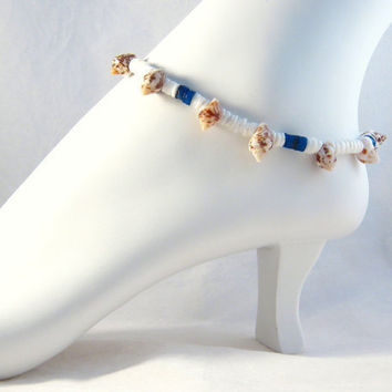 Beaded Sea Shell Ankle Bracelet Beach Anklet Summer Fashion Foot Jewelry