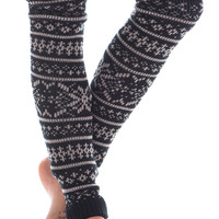Warm Winter Leg Warmers, Black