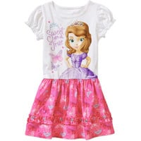 Walmart: Disney Sofia the First Baby Toddler Girl Tee Shirt Dress