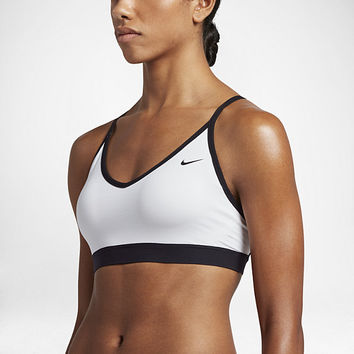 The Nike Pro Indy Cross Back Women's Light Support Sports Bra.