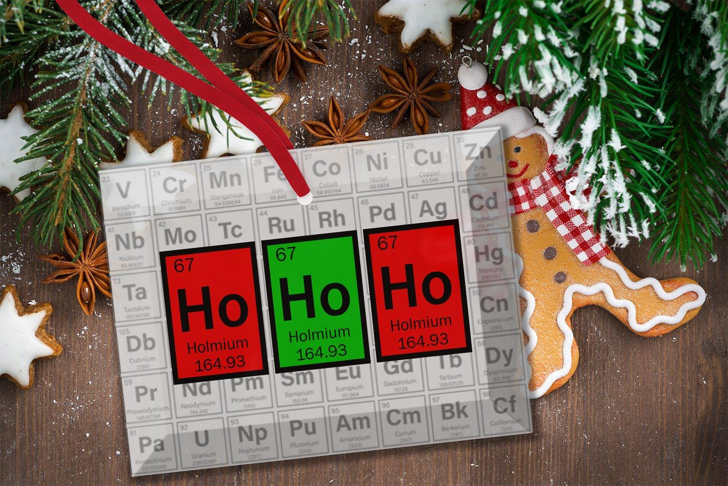 Ho Periodic Table Of Elements Gl Christmas Ornament