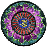 Lotus Yoga Iron On Patch