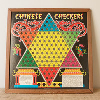Vintage Chinese Checkers Board by Transogram