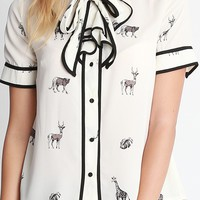 Wildlife Animal Printed Blouse | Ruche