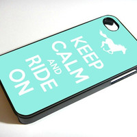 Horse Keep Calm and Ride On WIN iPhone Case And Samsung Galaxy Case