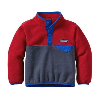 Patagonia, Baby Lightweight Synchilla Snap-T Pullover, Smolder Blue