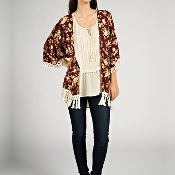 Everything I Need Kimono - Garnet