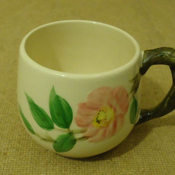 Franciscan Vintage Small Mug 3in D x 2 7/8in H Desert Rose USA Earthenware -- Used
