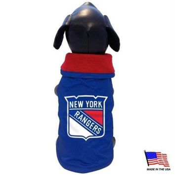 ICIKSX5 New York Rangers Weather-Resistant Blanket Pet Coat