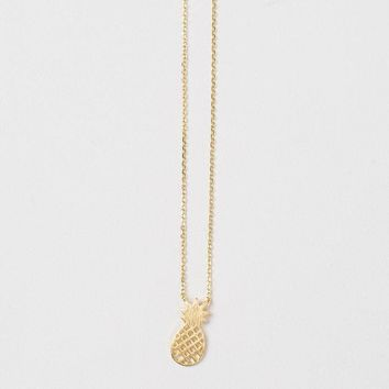 Miley Pineapple Gold Dainty Necklace