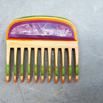 Mini Skateboard Comb Beard Comb