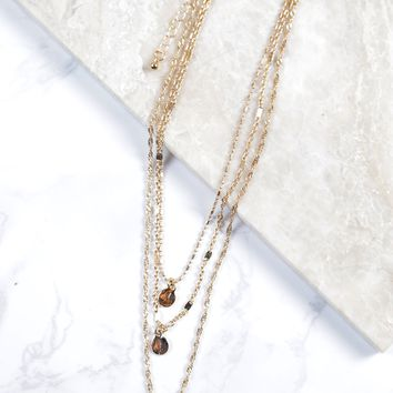 Layered Dainty Necklace, Gold