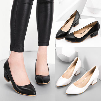 Pointed Toe Stylish Strong Character Casual With Heel Shoes [6044928385]