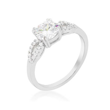 Round Solitaire Engagement Ring, size : 05