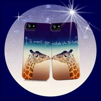 *** BEST FRIENDS *** I`LL MEET YOU UNDER THE STARS ***  iPhone 5 + 4 + 4 S + 3 G + 3 GS + ipod_touch skins + PILLOW-SET !!!