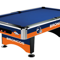 Denver Broncos Slate Pool Table
