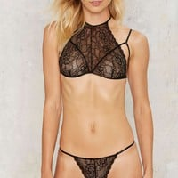 Dark Side of the Moon Lace Bra and Panty Set