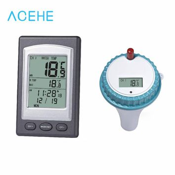 pool Thermometer wireless Professional Wireless Digital Swimming Pool SPA Floating  Wireless Indoor and Outdoor Spa Hot Tub