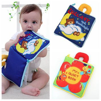 Baby Toys 0-12 Months 12 Pages Soft Cloth Baby Boy Girl Books Rustle Sound Infant Educational Stroller Rattles Toys For Kids