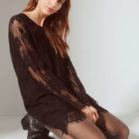 UO Lace Bell Sleeve Mini Dress | Urban Outfitters