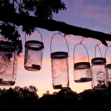 Set of 6 Wide Mouth Mason Jar Hanging Tea by CreativeCorksNMore