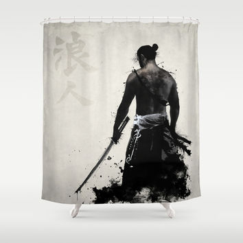 Ronin Shower Curtain by Nicklas Gustafsson