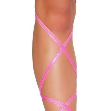 """Roma Rave 3322 - 100"""" Shimmer Leg Strap with Attached Garter"""