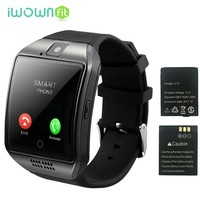 iWOWNfit Q18 Smart Watch Watches Phone Support SIM TF Card Smartwatch Men Q18 Battery Bluetooth Clock for Android Smartphone