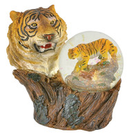 Tiger Bust Water Globe