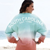 South Carolina EST. 1788 State Pride Sunrise Ombre Spirit Football Jersey® | SpiritFootballJersey.com