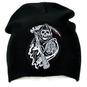ac spbest Sons of Anarchy Beanie Grim Reaper Clothing Knit Cap
