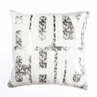Holy Chic Pillow - Silver Crackle