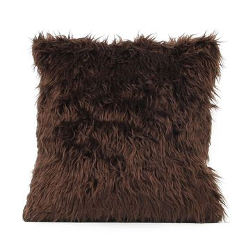 Vegan Fur Shag Throw Pillow Covers