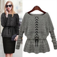 Women Lady Knitted Batwing Cardigan Sweater Cape ONE SIZE = 1945743172
