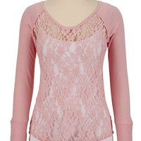 Lace Front Thermal Top