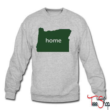 oregon home crewneck sweatshirt