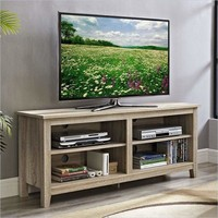 "58"" Natural Wood TV Stand Console by Walker Edison"