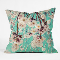 Lisa Argyropoulos Spring Showers Outdoor Throw Pillow