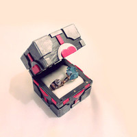 Companion Cube Inspired Ring Box - UPDATED VERSION