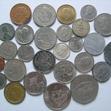 World Wide Global Coin Collection Including US Canada United Kingdom Indochine Mexico South Africa Greece