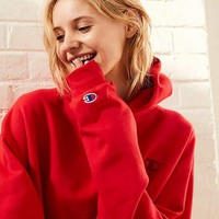 Champion & UO Powerblend Mini Logo Hoodie Sweatshirt - Red