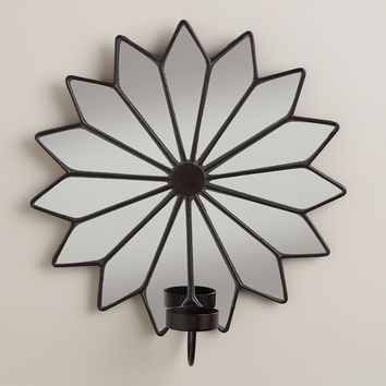 Star Pieced Mirror Tealight Sconce - World Market